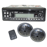 Pyle Stereo Receiver with Black Speakers