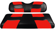 Madjax Riptide Two-Tone Front Seat Covers - Black/Red