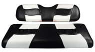 Madjax Riptide Two-Tone Front Seat Covers - Black/White