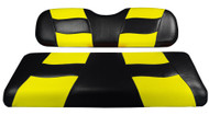 MadJax RipTide Two-Tone Front Seat Covers - Black/Yellow
