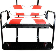 MadJax RipTide Two-Tone Rear Flip Seat Kit - White/Red cushions