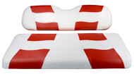 Madjax Riptide Two-Tone Front Seat Covers - White/Red