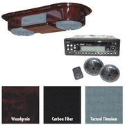 Overhead Golf Audio System with Console - Woodgrain