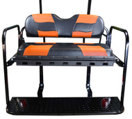 MadJax RipTide Two-Tone Rear Flip Seat Kit - Black/Orange cushions