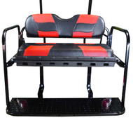 MadJax RipTide Two-Tone Rear Flip Seat Kit - Black/Red cushions