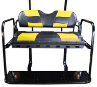 MadJax RipTide Two-Tone Rear Flip Seat Kit - Black/Yellow cushions
