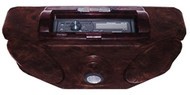 Roof Mount Stereo Console with Dome Light Burlwood