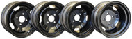 Black Steel Wheels for Silverwolf All Wheel Drive Kits