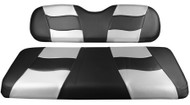MadJax RipTide Two-Tone Front Seat Covers - Black/Silver Carbon