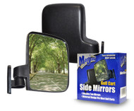 Adjustable Sport Golf Cart Side View Mirrors - Set of Two