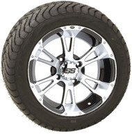 "12"" ITP SS112 Machined Wheel and Low Profile Tire Combination"