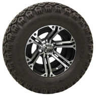 "12"" ITP SS212, Machined Wheel and Lifted Tire Combo"