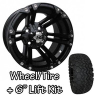 "12"" SS212 Black Wheels 