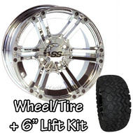 "12"" ITP SS212 Chrome Machined Wheels 