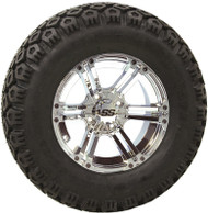 "12"" ITP SS212, Chrome Wheel and Lifted Tire Combo"