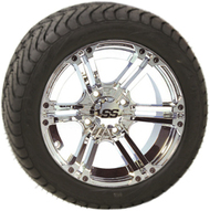"12"" ITP SS212 Chrome Wheel and Low Profile Tire Combo"