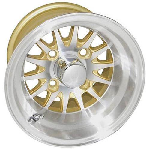 10 Inch Wheels For Golf Cart : Inch rhox phoenix machined golf cart wheel with gold