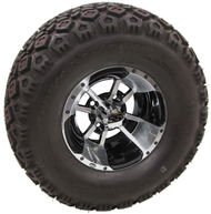 "10"" ITP SS112 w/Black Inserts, Machined Wheel and Lifted Tire Combo"
