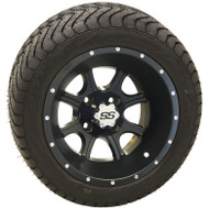"12"" ITP SS108 Black Wheel and Low Profile Tire Combo"