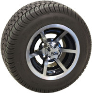 "10"" ITP SS6, 6 Spoke Machined and Low Profile Tire Combination"