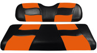 Madjax Riptide Two-Tone Front Seat Covers - Black/Orange
