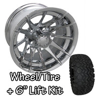 "12"" RHOX 12 Spoke Chrome Wheels 