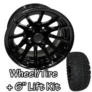 "12"" RHOX 12 Spoke Black Machined Wheels 