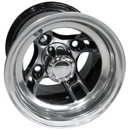 "8"" RHOX Brickyard Machined w/ Black Golf Cart Wheel"