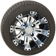 "10"" RHOX Vegas Machined Wheel and Low Profile Tire Assembly"