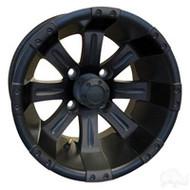 """10"""" RHOX Vegas, Matte Black Golf Cart Wheel"""