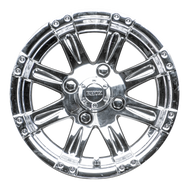 "12"" RHOX Vegas Chrome Golf Cart Wheel"