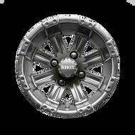 """12"""" RHOX Vegas Matte Black Golf Cart Wheel 1"""