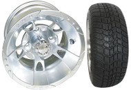 "10"" RHOX Chrome Wheel and Low Profile Tire Combo"