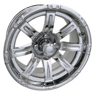"14"" RHOX Vegas Chrome Golf Cart Wheel"