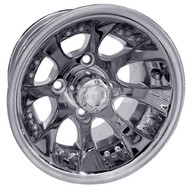 "10"" RHOX RX240, 8 Spoke, Polished Golf Cart Wheel"