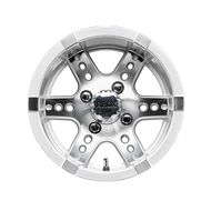 "12"" RHOX RX251 Machined/Silver Golf Cart Wheel"