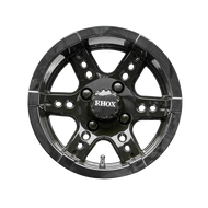 "12"" RHOX RX252 Black Golf Cart Wheel"