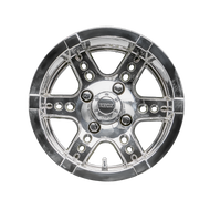 "12"" RHOX RX254 Chrome Golf Cart Wheel"