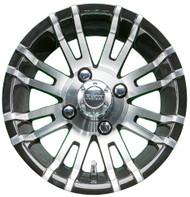 "12"" RHOX RX270 Machined/Black Golf Cart Wheel"