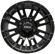 "12"" RHOX RX271 Black Golf Cart Wheel"