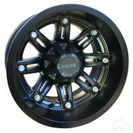 "12"" RHOX RX290 Machined/Black Golf Cart Wheel"