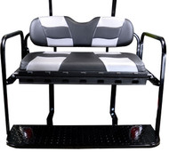 MadJax RipTide Two-Tone Rear Flip Seat Kit - Black/Silver Carbon cushions