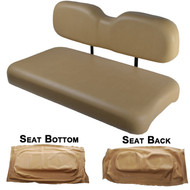 EZGO TXT Replacement Front Seat - Tan Cushions - 1994-2013