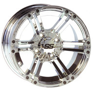 "12"" ITP SS212 Chrome Golf Cart Wheel"