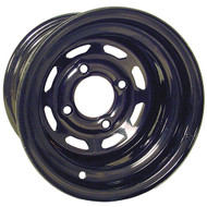10'' Black 8 Window Steel Golf Cart Wheel