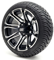 "12"" GTW Voyager SS Machine Black Wheel 