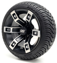 "12"" GTW Brute SS Machine/Black Wheel 