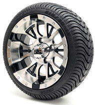 "12"" GTW Diesel SS Machine Black Wheel 