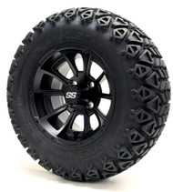 "12"" GTW Clutch Matte Black Wheels 