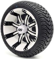 "12"" GTW Tempest SS White/Black Wheel   Tire Combo"